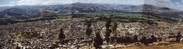 cajamarca peru picture panorama of the city